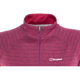 Berghaus Thermal Tech Langærmet T-shirt Damer, beet red/poinsettia